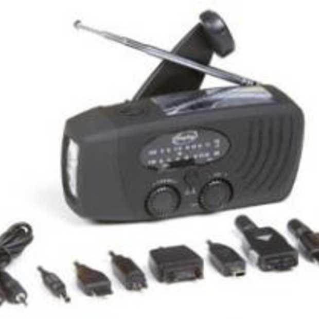 Noodradio zonder Batterijen ook om Mobiele telefoon op te laden