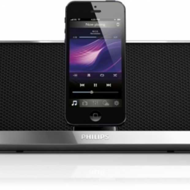 Philips docking speakers met Lightning-connector voor iPhone 5