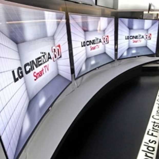 Primeur: LG onthult eerste OLED met gebogen scherm