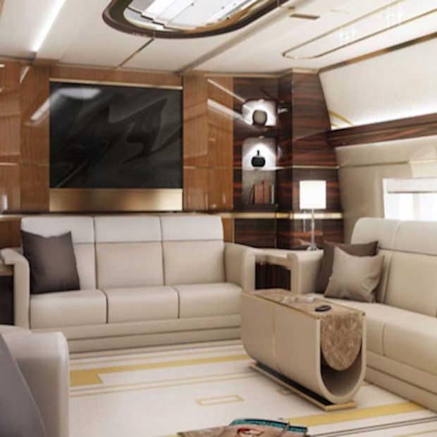 Neem een kijkje in deze stijlvolle privéjet!