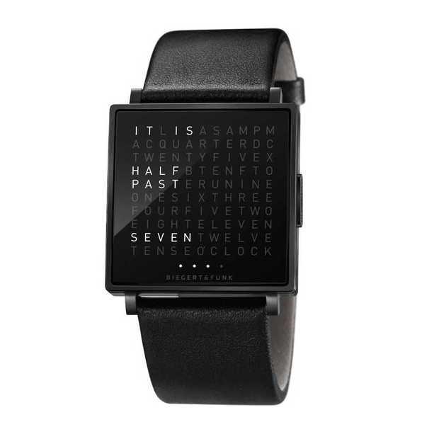 Qlocktwo: zo'n tof horloge heb je nog nooit gezien