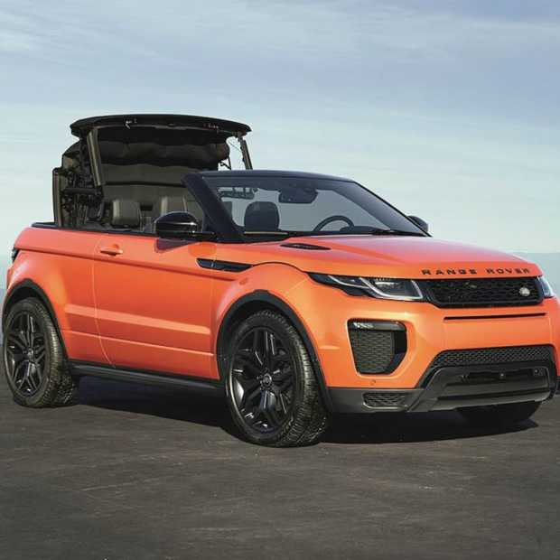 Range Rover Evoque Convertible: fraaie cabriolet laat je het hele jaar genieten