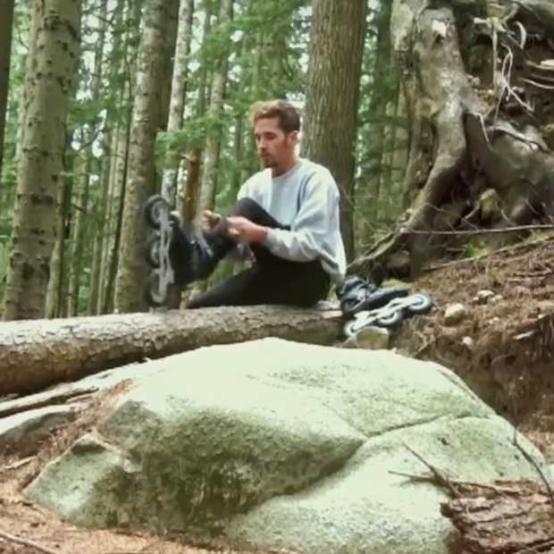 Vette video: extreme skating in het bos