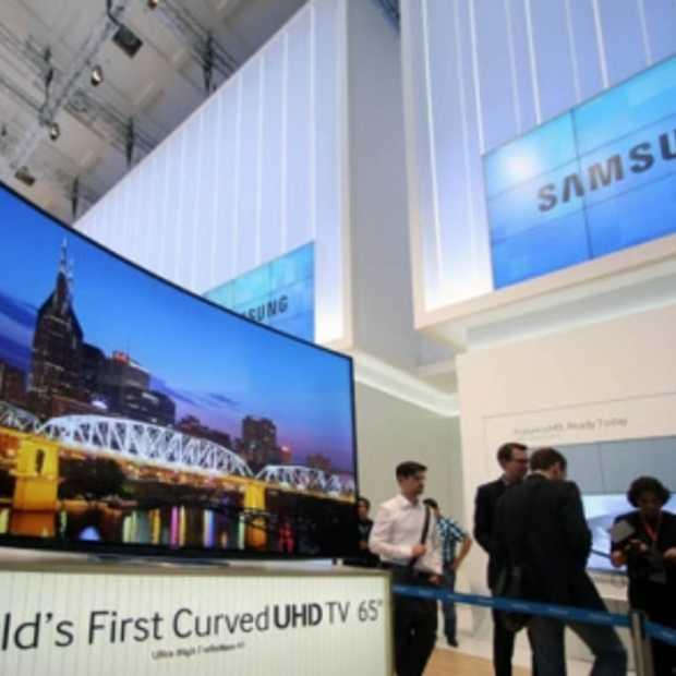 Samsung Curved UHD TV met gebogen scherm