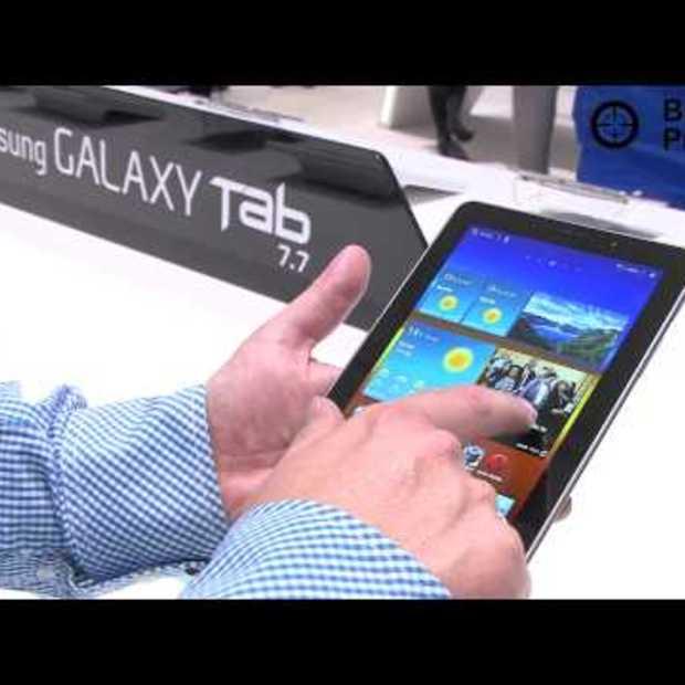 Samsung Galaxy Tab 7.7: verwijderd van stand
