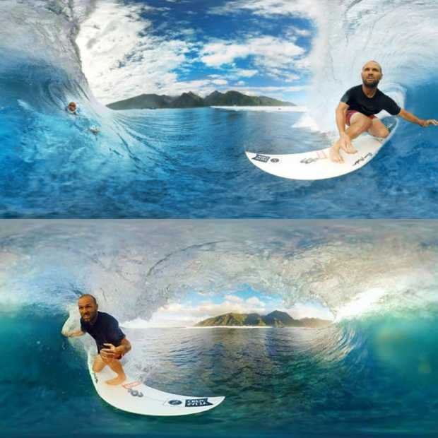 Gave 360 graden-video: surfen in Tahiti