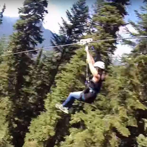 Met 100 km/u van een 180 meter hoge zipline