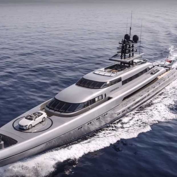 Dit jacht kost 90 miljoen dollar en heeft een helikopterplatform