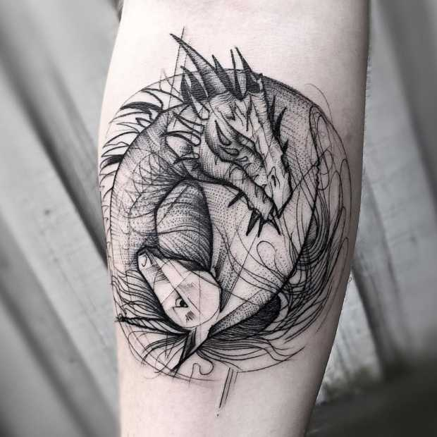 Heel cool: geometrische tattoos