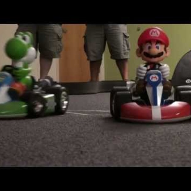 Super Deluxe Mario R/C Cars from ThinkGeek