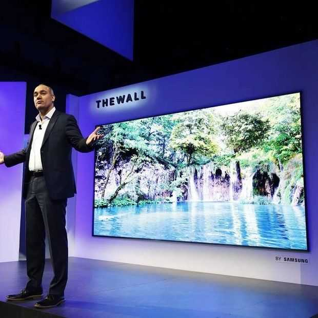 CES 2018: Samsung's The Wall is 146 inch aan MicroLED tv