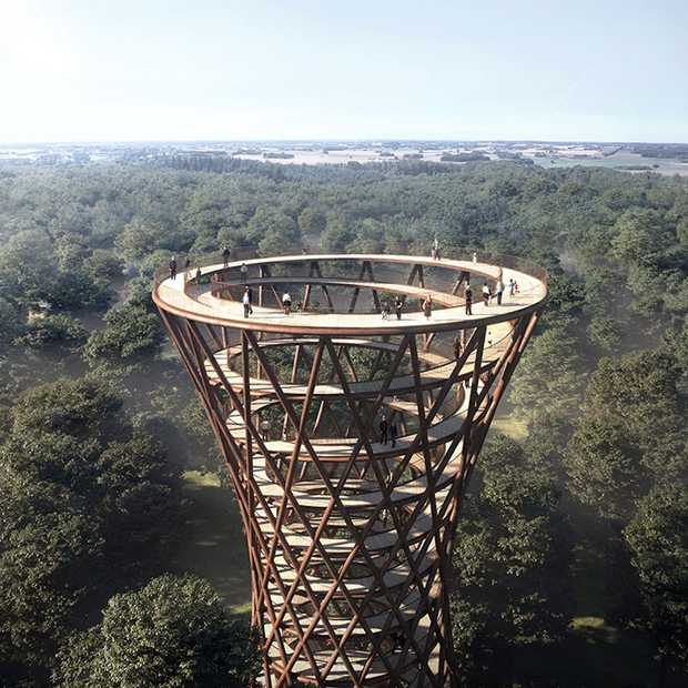 Denemarken krijgt een unieke Treetop Experience