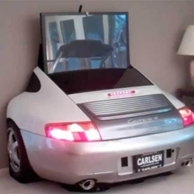 TV-meubel voor autogeeks en vooral Porsche liefhebbers
