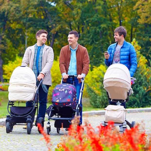 Mannen achter de kinderwagen