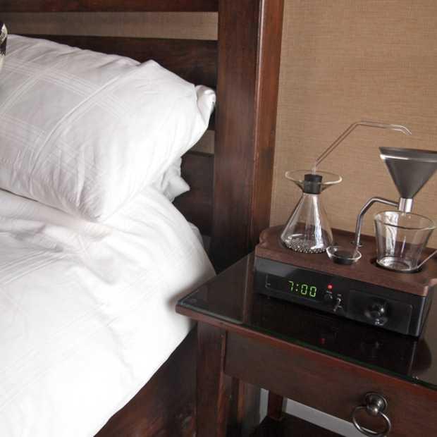 Deze wekker zet alvast een kop koffie voor je