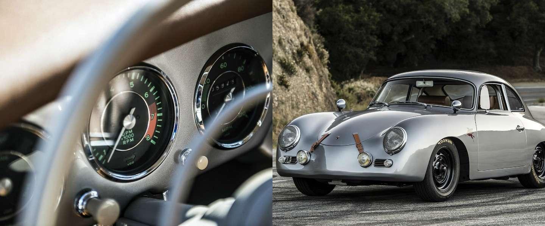 De 1964 Porsche 356 Cabrio Emory Outlaw ademt klasse
