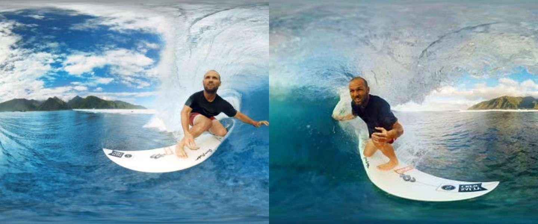 Gave 360 graden-video: surfen in Tahiti