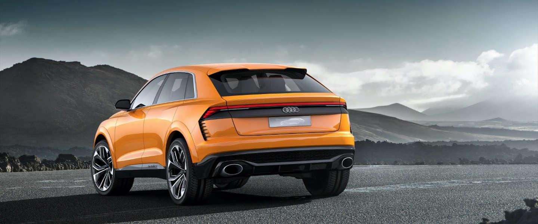 Wegzwijmelen bij een Audi Q8 Sport Concept