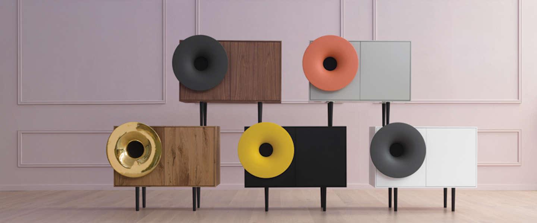 Deze speaker is de moderne versie van de grammofoon