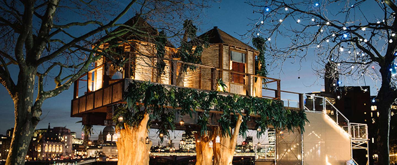 Cool: een luxe boomhut middenin het centrum van Londen