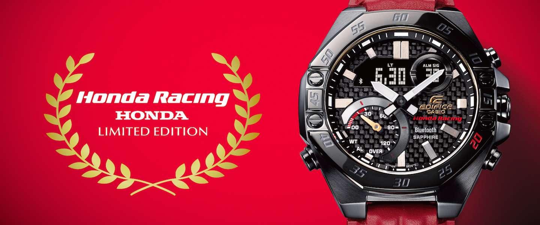 Casio's horlogemerk EDIFICE bestaat 20 jaar en viert het met dit nieuwe Honda Racing horloge