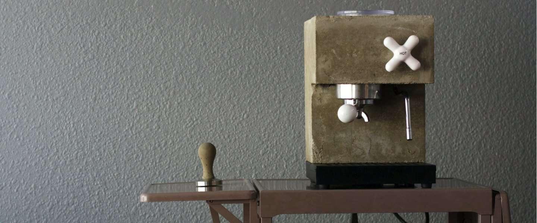 Deze espresso machine is gemaakt van beton!