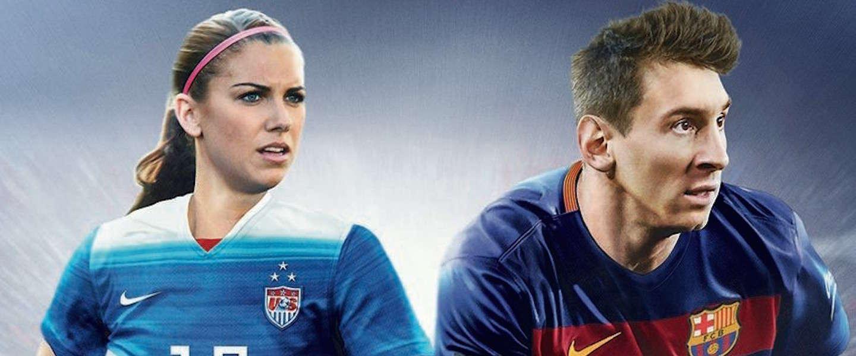 Voor het eerst een vrouw naast Messi op de cover van FIFA