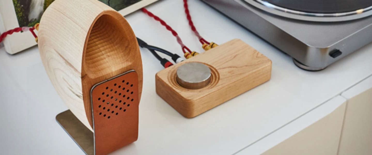 Eyecatcher voor in huis: Grovemade Speaker System