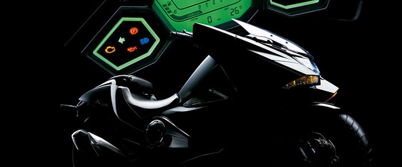 De futuristische Honda NM4 motor komt zo uit de toekomst rijden