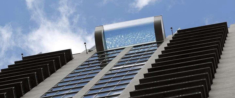 Dit zwembad in Houston zweeft op 150 meter hoogte