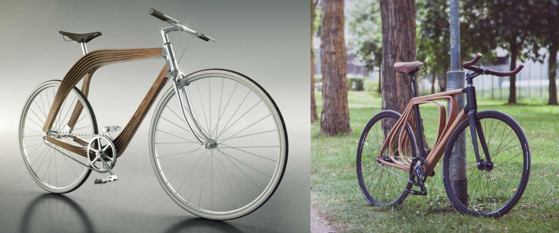 4 gave, stijlvolle houten fietsen