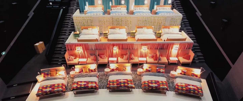 IKEA vult bioscoopzaal met tientallen bedden