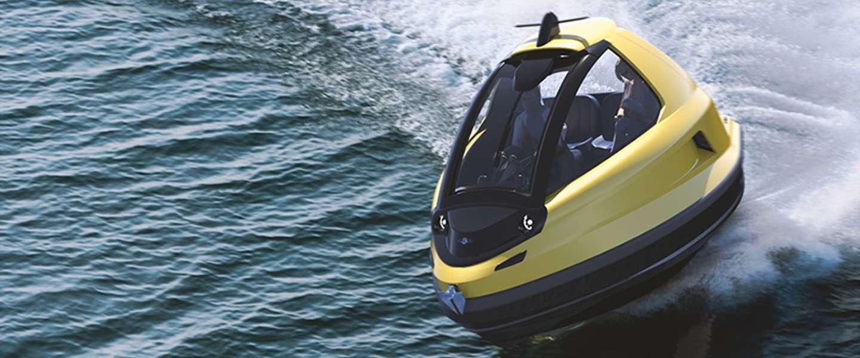 Lekker op het water in de Jet Capsule Mini Jet: supervet