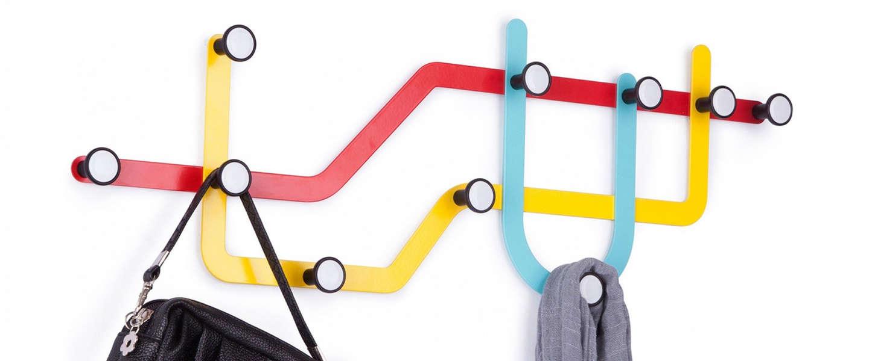 Cool ding: Subway Line multi-hook kapstok leukt je gang op