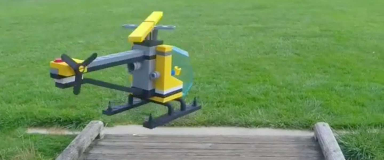 Video: deze LEGO-helicopter vliegt echt