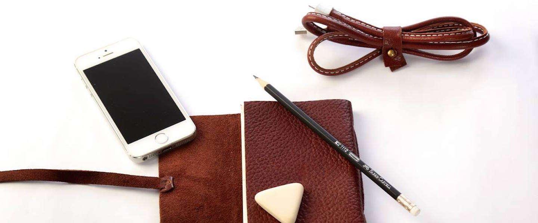 Je iPhone stijlvol opladen met een kabel van leer