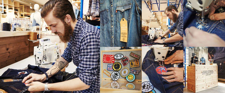 Personaliseer je denim bij Levi's Tailor Shop