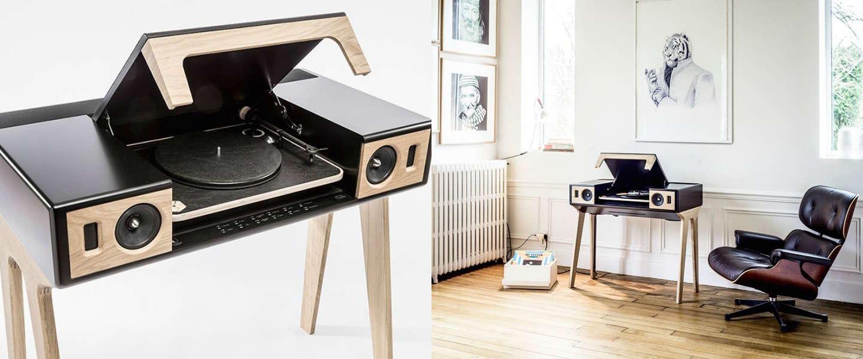 coole muziekspeler lp 160 van la boite concept. Black Bedroom Furniture Sets. Home Design Ideas