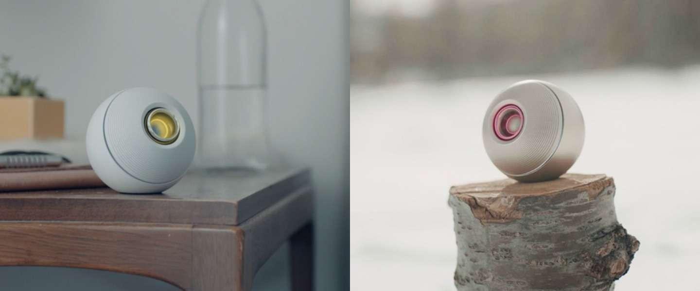 De stijlvolle Luna speaker neem je overal mee naartoe