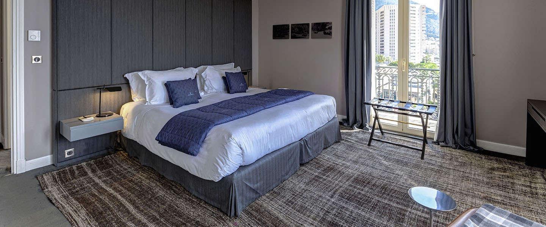 Overnachten in een Maserati hotelkamer in Hôtel de Paris in Monaco