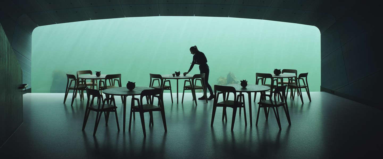 Eerste onderwaterrestaurant opent zijn deuren