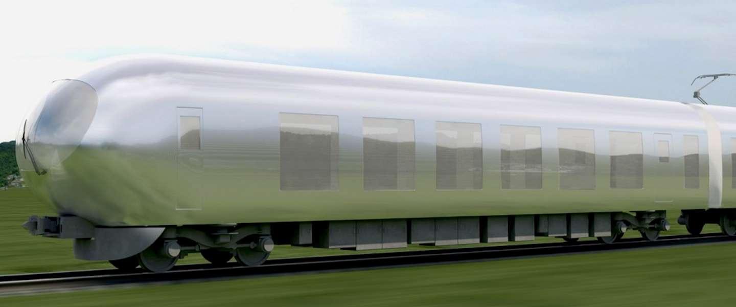 Japanse architect ontwikkelt onzichtbare trein