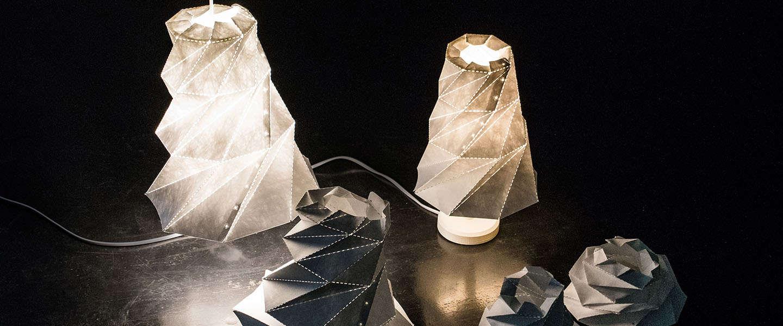 Nu op Kickstarter, de Origami Lamp Shade