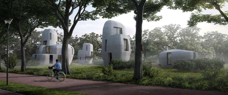 3D geprinte betonnen huizen in Eindhoven volgend jaar bewoonbaar