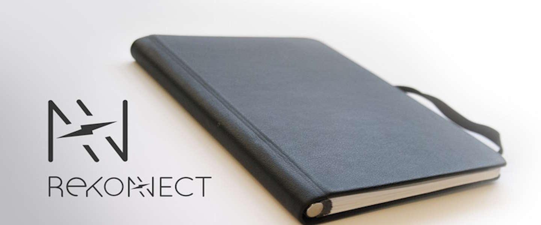 Rekonect: het magnetische notitieboekje dat je bladzijdes laat verplaatsen