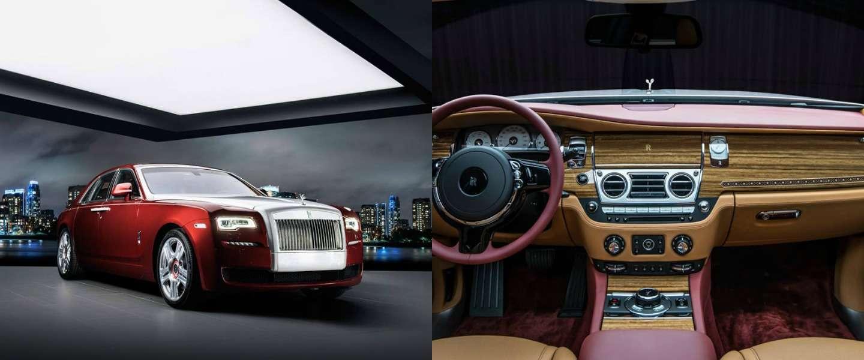 Van deze Rolls Royce Red Diamond Ghost is er maar één gemaakt