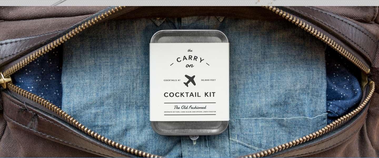 Reizen met klasse met de Carry On Cocktail Kit
