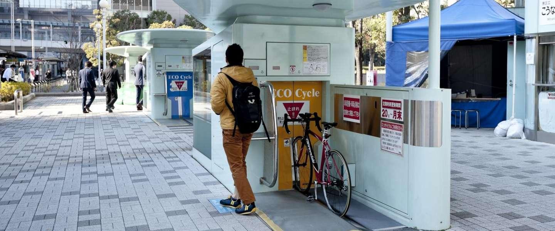 Parkeer je fiets in een ondergrondse fietsgarage