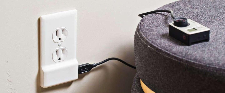 Handig! Dit stopcontact heeft een USB plugin