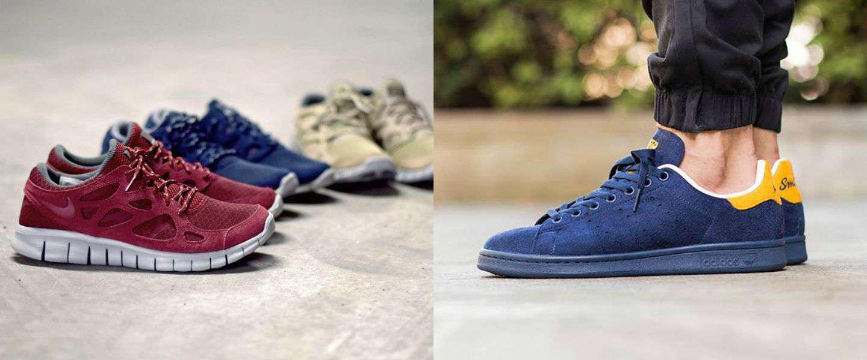 5 x toffe gekleurde sneakers voor mannen